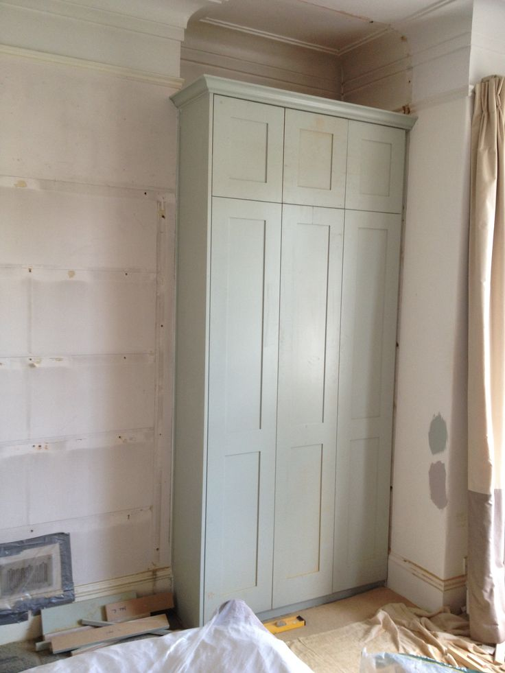Work in progress photo of Wardrobe main bedroom | Right alcove to mirror the left www.fittedbespokefurniture.co.uk