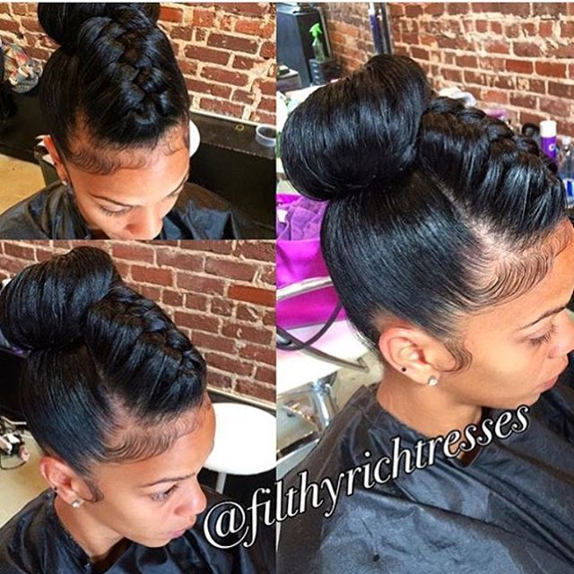 WEBSTA @ voiceofhair - Flashback to this #underbraid bun by @filthyrichtresses ❤️ So different and pretty #voiceofhair #atlhair #atlstylist #bunlife #flashback