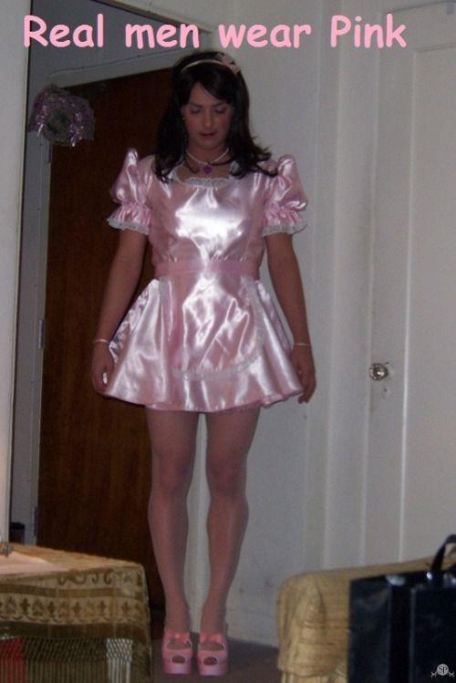 Men fucked in satin dresses