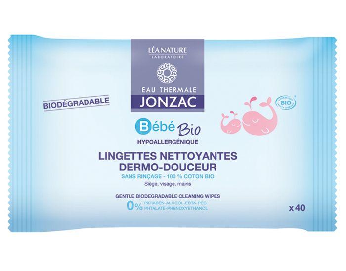 Bébé Lingettes Nettoyantes Dermo-Douceur Paquet de 40 JONZAC