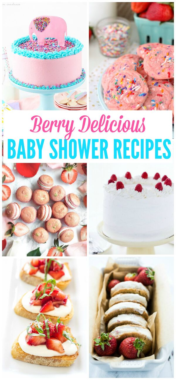 Berry Baby Shower Recipes