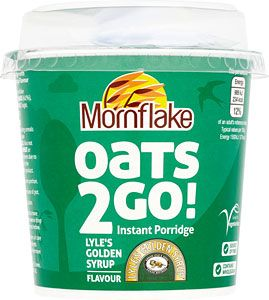 Compare and buy online Tesco Mornflake Oats 2 Go Porridge Pots Golden Syrup (62g) from Tesco using mySupermarket Groceries to find the best Tesco Mornflake Oats 2 Go Porridge Pots Golden Syrup (62g) offers and deals and save money