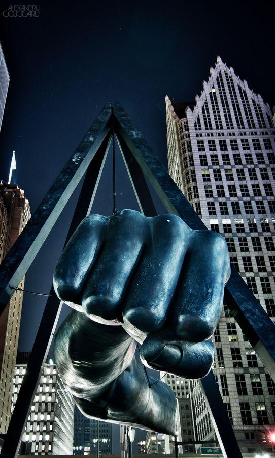 Pound This! Sculpture. |  Downtown Detroit, MI