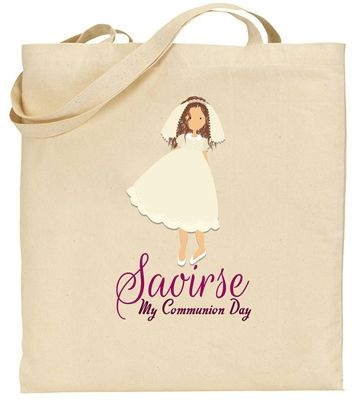Personalised Tote Bag for a special Communion Girl. A beautiful keepsake of a precious day! €13.99 | WowWee.ie