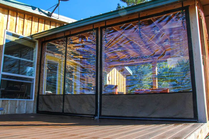 Clear Vinyl Plastic Enclosures In 2020 Screened In Porch
