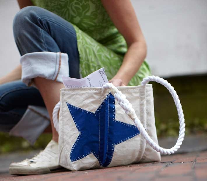 Recycled sail bag! i want one!