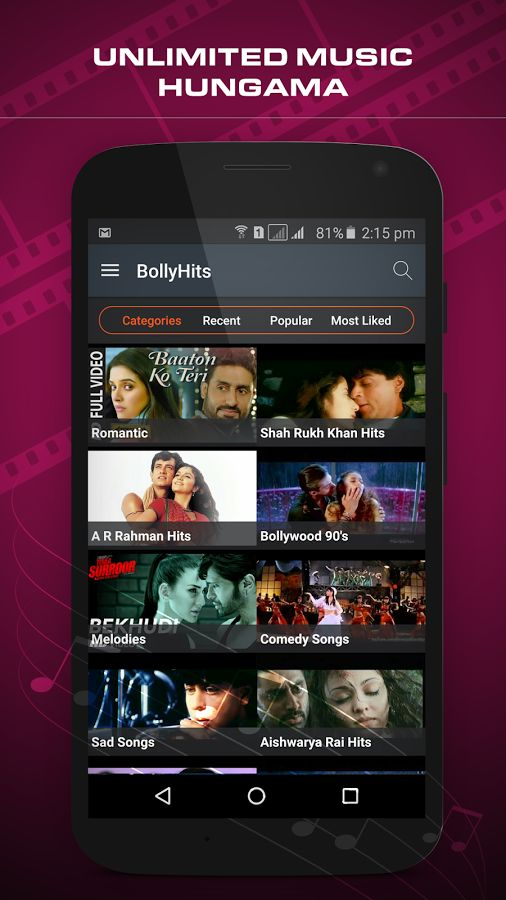 Hello Friends, A beautiful app dedicating to Hindi song lovers all over the world , App shring some Bollywood romantic and beautiful songs. It has collected best melody hindi song. These songs are collected from Different movie, These all song are awesome.. This application provide the best collection of hindi love song