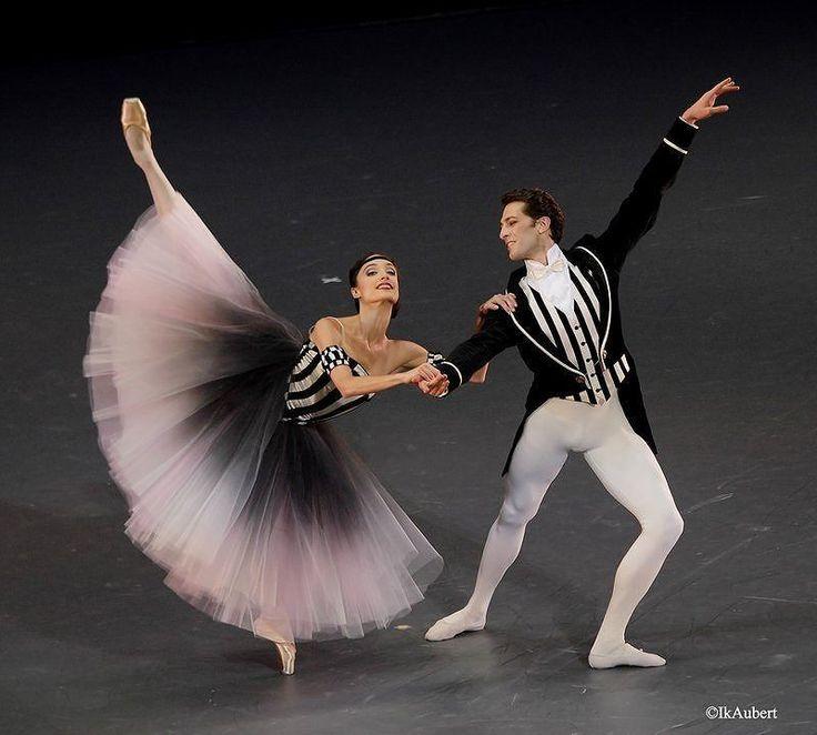 """Dorothée Gilbert and Mathieu Ganio, """"Brahms-Schönberg Quartet"""" choreography by George Balanchine, Le Ballet de l'Opéra National de Paris (July 2, 2016)"""