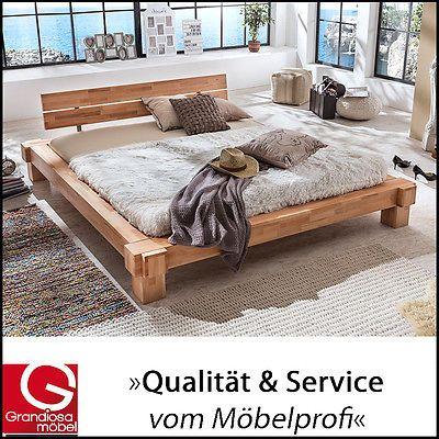 WOODLIVE Kavas | Holzbett Doppelbett | 200x200 | Buche | Natur