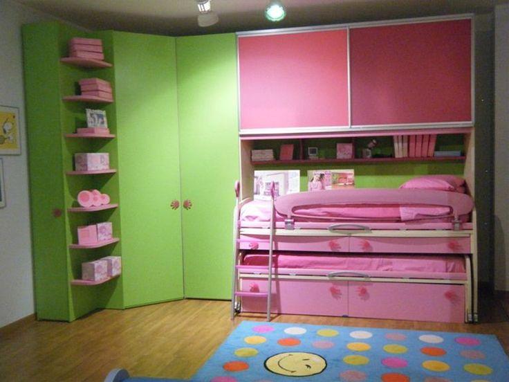 Camerette angolari ~ Un incanto di letto a castello per le bambine camerette