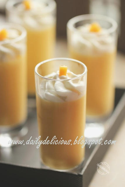 dailydelicious: Mango Pudding: Sweet fragrance, delicious taste