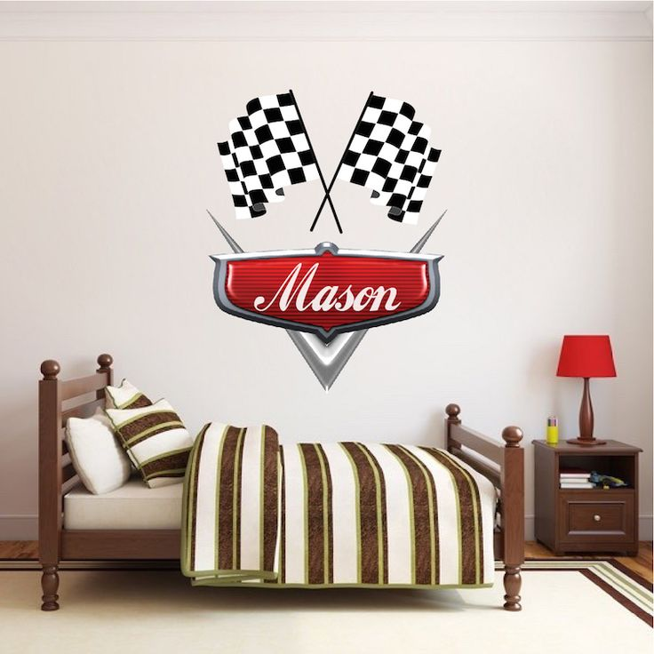 Personalized Boys Race Car Name Decal   Car Wall Decals   Automotive Decals    Kids Room Part 72