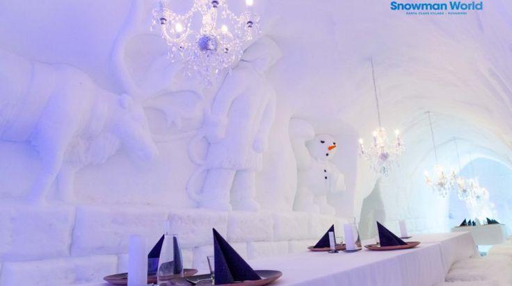 Snowman World Ice Restaurant -Rovaniemi, Lapland, Finland
