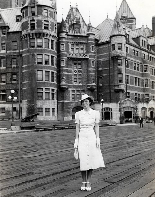Chateau Frontenac in Quebec City, 1936