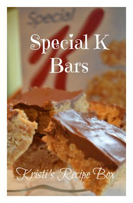 Kristi's Recipe Box: Special K Bars - Tried  love.  Best recipe by FAR.  dm