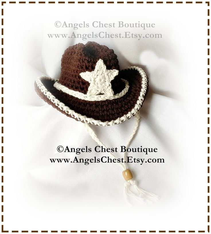 COWBOY Crochet Hat Pattern Size Newborn to Adult by AngelsChest, $6.99
