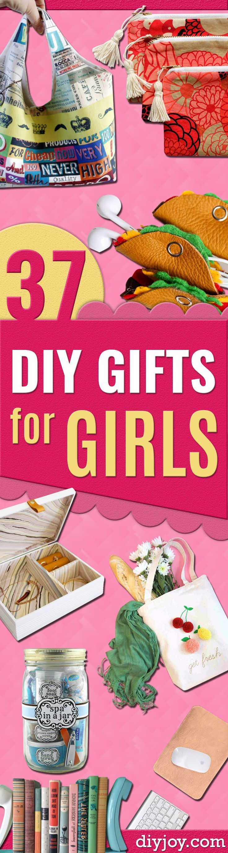 Make Cool DYI Gift Ideas for Young and Older Girls, Teens and Teenagers - Awesome Room and Home Decor for Bedroom, Fashion, Jewelry and Hair Accessories - Cheap Craft Projects To Make For a Girl for Christmas Presents http://diyjoy.com/diy-gifts-for-girls