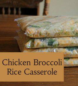 Freezer-Friendly Chicken Broccoli Rice Casserole Recipe on Money Saving Mom at http://moneysavingmom.com/2012/05/4-weeks-to-fill-your-freezer-chicken-broccoli-rice-casserole-day-14.html