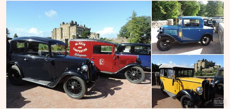 Wonderful display on the approach to Culzean Castle of classic Austin 7's.