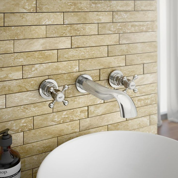 Belmont Traditional Wall Mounted Basin Mixer | From Victorian Plumbing