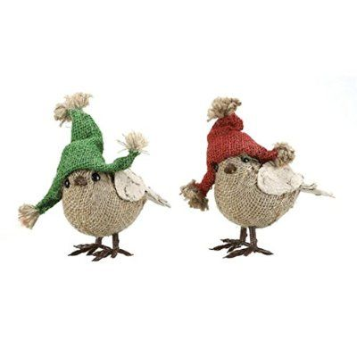 Cute Winter Bird Decorations With Hats Holiday Cheer