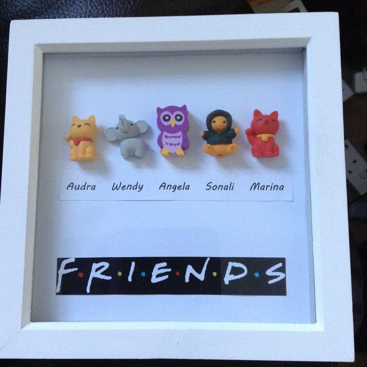 My newest make - a Freinds box frame complete with figures of work colleagues - love it