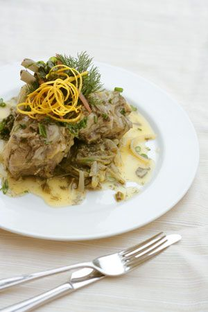 EASTER_CRETE_LAMB OR GOAT_WILD CHICORY_FRICASSE