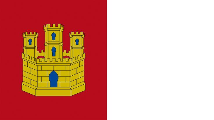 La bandera actual de Castilla la Mancha