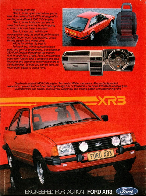 Cosworth - Ford Escort XR3, can't find an image but mine was all white