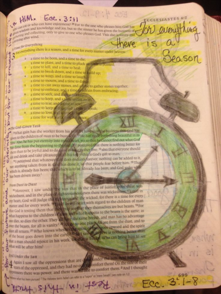 For everything there is a time. Ecc. 3:1-8