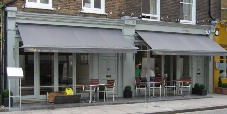 Trishna restaurant.  Marylebone village