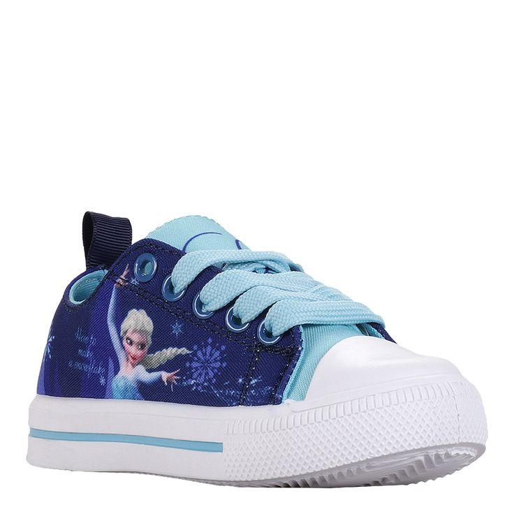 Tenisi fetite cu Printesa Elsa din Frozen turcoaz cu indigo