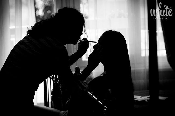 Makeup by White Creative on 500px.  #wedding #bride #matrimonio #sposa #preparativi #trucco #foto #b&w