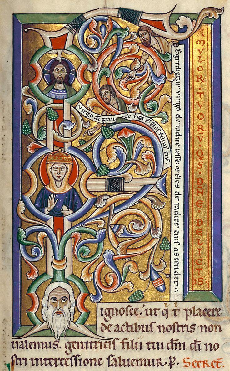 Initial F: Tree of Jesse; Stammheim / Hildesheim Missal (ca. 1160-70).