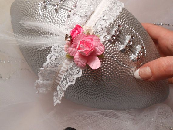 Wedding Football Garter Toss Football ONLY by UnderTheVeil on Etsy, $24.99