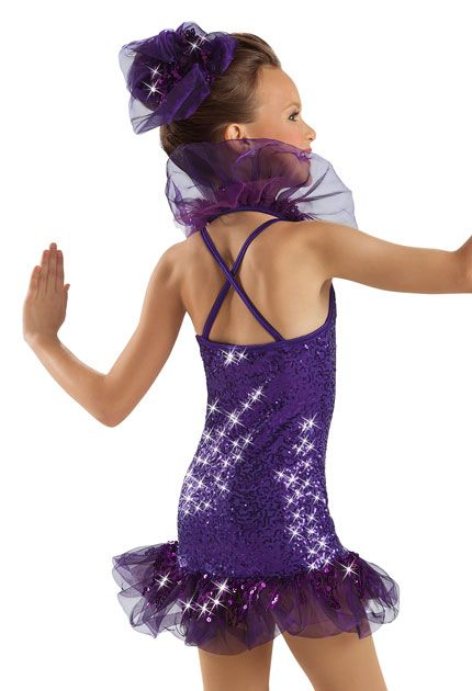 Purple Sequin Ruffle Dress -Weissman Costumes