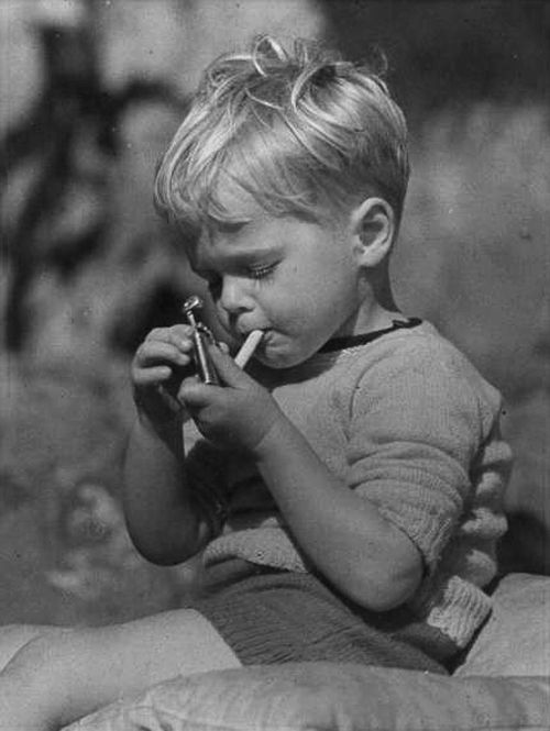 If I had been a child smoker, this would have been me.