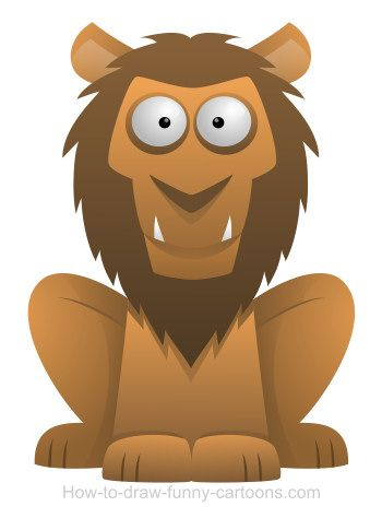 Gentle cartoon lion ready to be drawn by artists of all around the world!