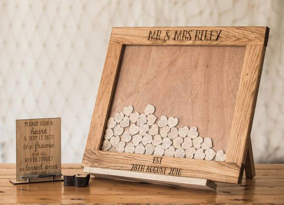 Wedding Guestbook Alternative, Heart Drop, Drop Box, Guest Book, Wedding Guestbook, Wedding Decor, Drop Top Guestbook, Wedding Drop box