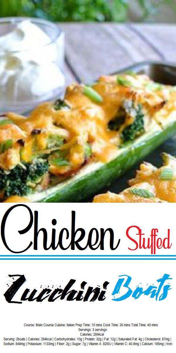 Broccoli Chicken Zucchini Boats Ruled Me 2145 Review 40 Minutes Gluten Free Serves 27 These Stuffe Dinner Recipes Chicken Recipes Zucchini Recipes