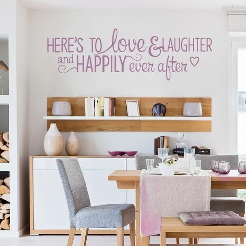 Here's to Love & Laughter Wide Wall Sticker