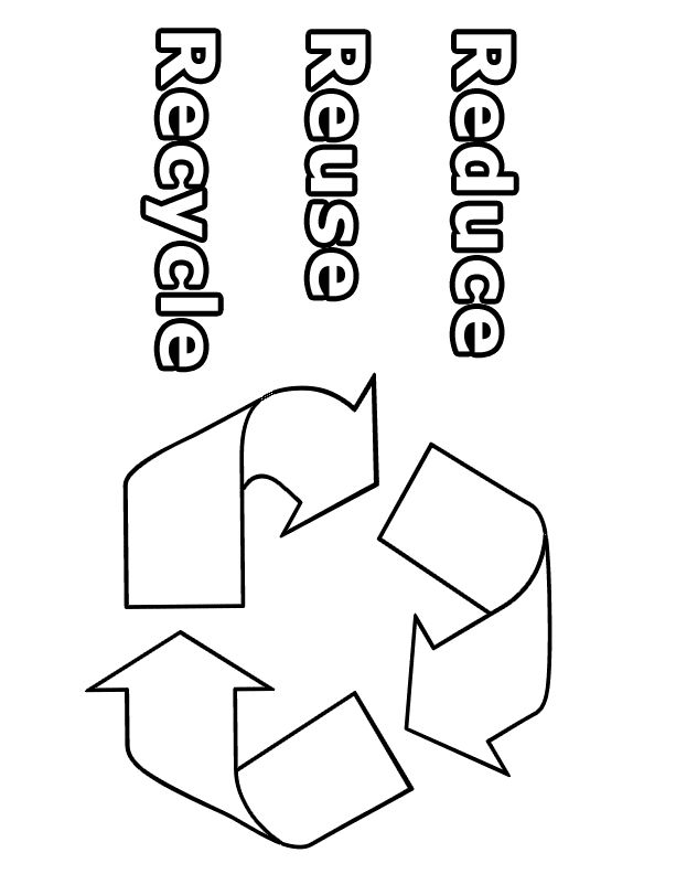 going green coloring page reduce reuse recycle going green coloring pages