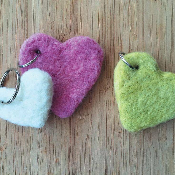 Felt heart keyring tutorial #Craft #Felt #Heart #SouthAfrica