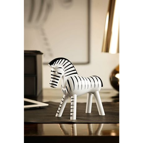 Kay Bojesen Zebra Black and white, 14 cm