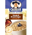 Quaker Instant Oatmeal - Maple and Brown Sugar; WW 3 Points