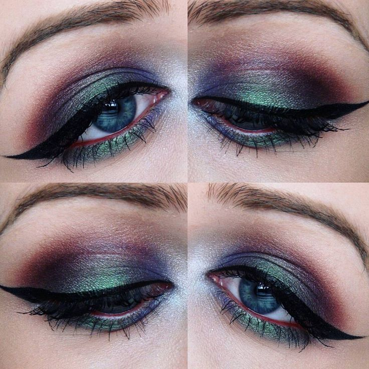 """Throwback to a look I did last month  ✴Using the Kat Von D Mi Vida Loca Remix Palette. Tattoo Liner in Trooper, Too Faced Better Than Sex Mascara,…"""