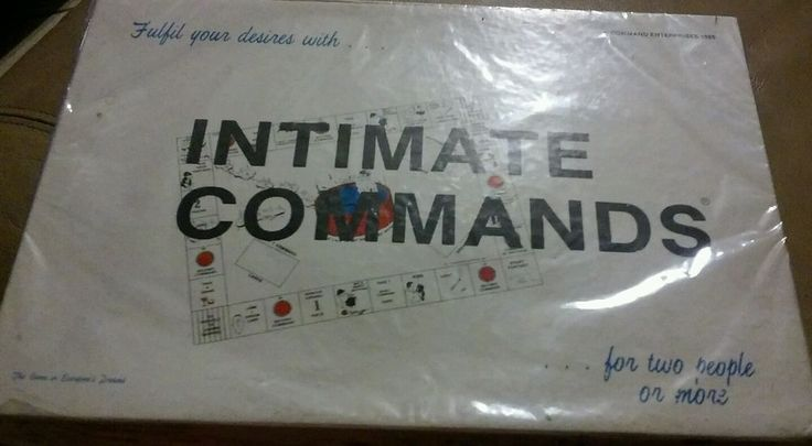 Vintage INTIMATE COMMANDS Board Game Adult Couples Erotic Party Sex Complete #Unbranded