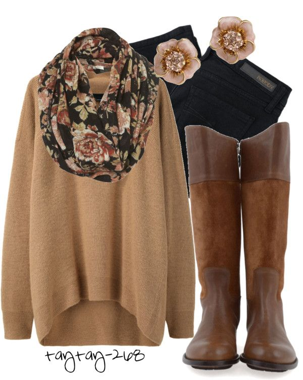 Black, Brown & Floral...I just died Clothes  Outift for • teens • movies • girls • women •. summer • fall • spring • winter • outfit ideas • dates • parties Polyvore :) Catalina Christiano