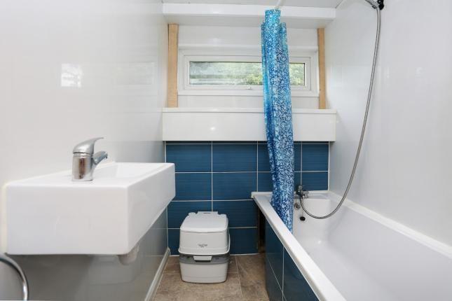 Bathroom with portaloo, March '17
