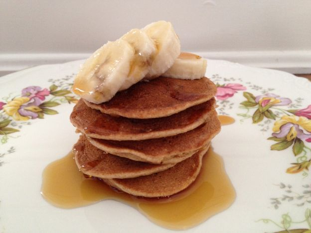 Oil free pancakes - super delicious from The China Study Cookbook!